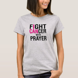 T-shirt Cancer de combat avec la chemise de prière