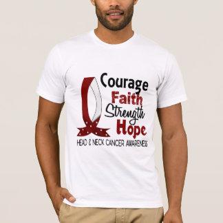 T-shirt Cancer de cou de tête d'espoir de force de foi de