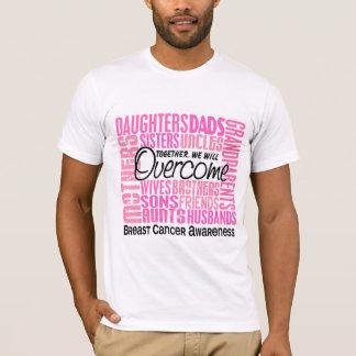 T-shirt Cancer du sein carré de famille