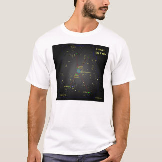 T-shirt Cancer la constellation de crabe