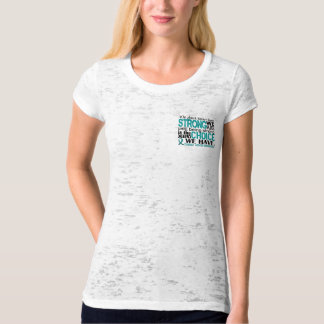 T-shirt Cancer ovarien comme nous forts sommes