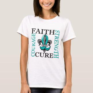 T-shirt Cancer ovarien de Fleur De Lis 3