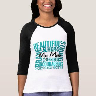 T-shirt Cancer ovarien de maman carrée d'hommage