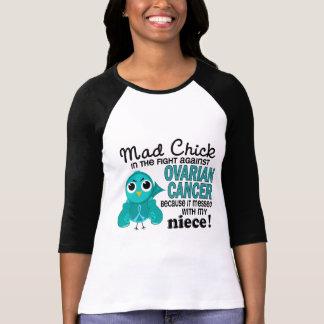 T-shirt Cancer ovarien de nièce folle du poussin 2