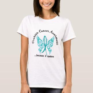 T-shirt Cancer ovarien du papillon 6,1 grunges de tatouage