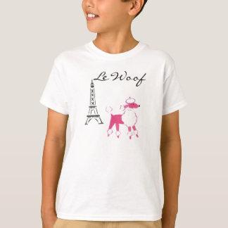 T-shirt Caniche de Le Woof Pink à Paris