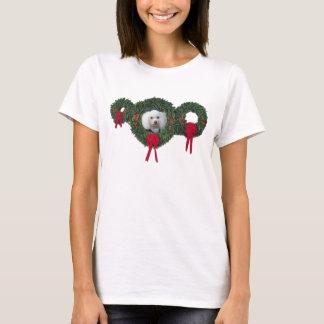 T-shirt Caniche de Noël