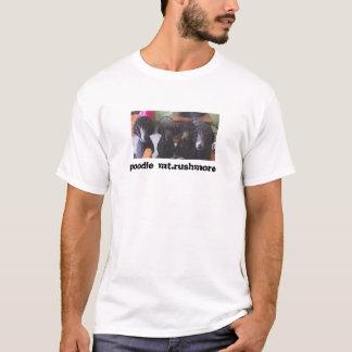 T-shirt caniche le mont Rushmore