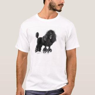 T-shirt Caniche noir équilibré