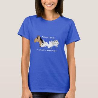 T-shirt canin de thérapie de massage - police