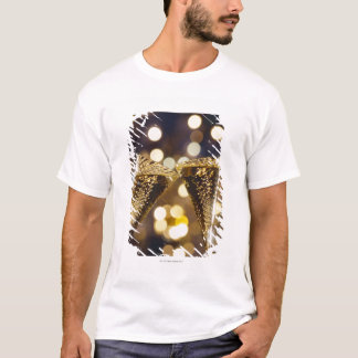 T-shirt Cannelure de champagne grillée, plan rapproché