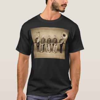 T-shirt Cannettes de fil de tuba (sépia)
