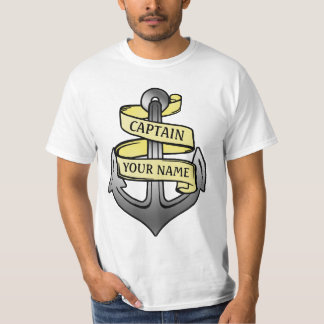 T-shirt Capitaine de bateau personnalisable votre ancre