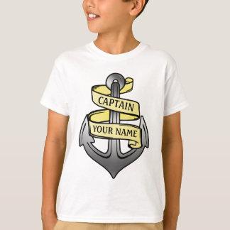 T-shirt Capitaine de bateau personnalisé votre ancre