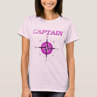 T-shirt Capitaine rose avec le rose de boussole