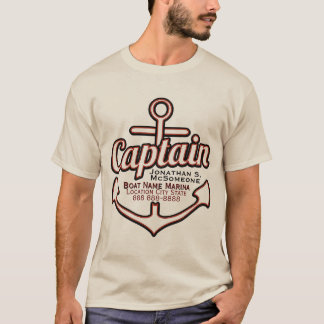 T-shirt Capitaine totalement personnalisé Anchor Nautical