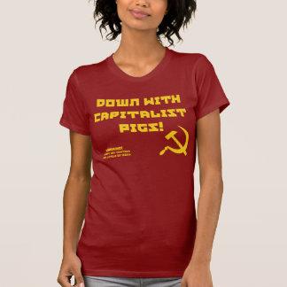 T-shirt capitaliste de l'ironie des femmes