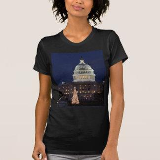 T-shirt Capitol des USA célébrant la photo de Noël