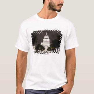 T-shirt Capitol d'état d'Austin, le Texas la nuit