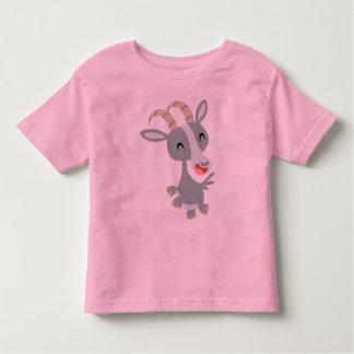 T-shirt caracolant d'enfants de chèvre de bande