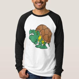 T-shirt caractère maladroit mignon de tortue de bande