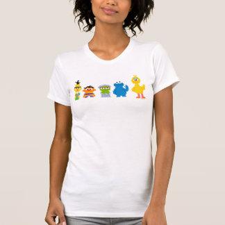 T-shirt Caractères de Sesame Street de pixel