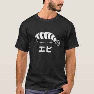 T-shirt Caractères japonais de sushi d'Ebi (crevette