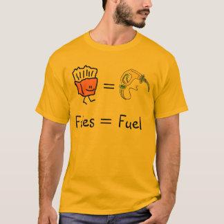 T-shirt carburant égal de fritures