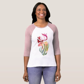 T-shirt Caribou avec le Fireweed