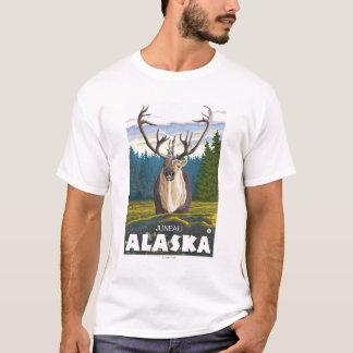 T-shirt Caribou dans le sauvage - Juneau, Alaska