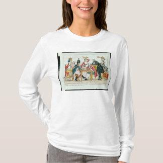 T-shirt Caricature des échecs de jeu de Louis XVI