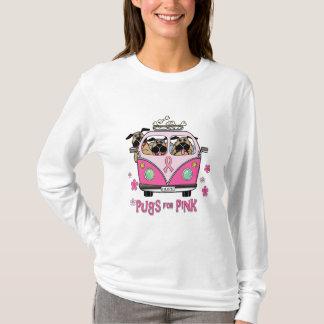 T-shirt Carlins pour la pièce en t rose