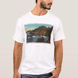 T-shirt Carmel, CA - côte rocailleuse sur le point Lobos