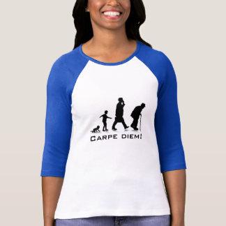 """T-shirt """"Carpe Diem !"""" Dames 3/4 raglan de douille adapté"""