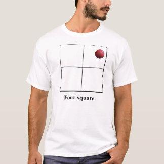 T-shirt Carré quatre vivant il