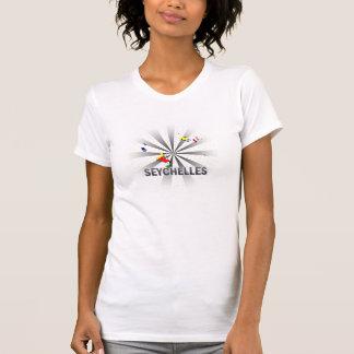 T-shirt Carte 2,0 de drapeau des Seychelles