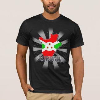 T-shirt Carte 2,0 de drapeau du Burundi