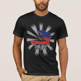 T-shirt Carte 2,0 de drapeau du Haïti