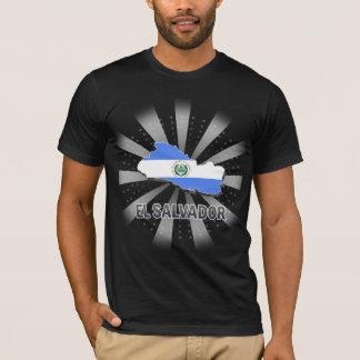 T-shirt Carte 2,0 de drapeau du Salvador