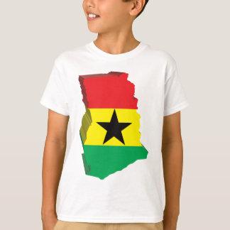 T-shirt carte 3D du Ghana