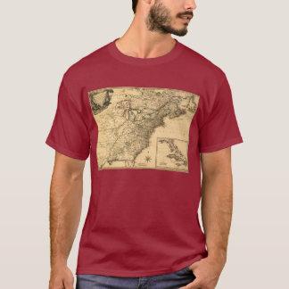 T-shirt Carte américaine de colonies du cru 1777 par