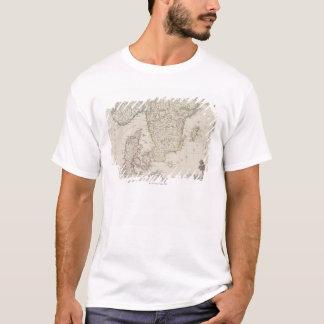 T-shirt Carte antique de la Scandinavie