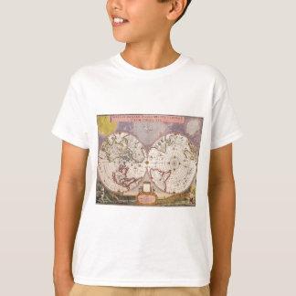 T-shirt Carte antique du monde
