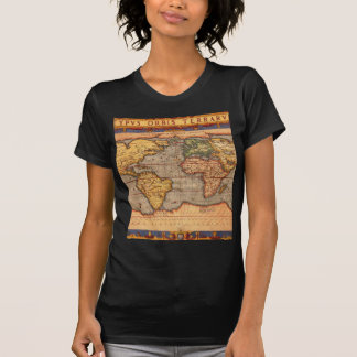 T-shirt Carte antique du monde