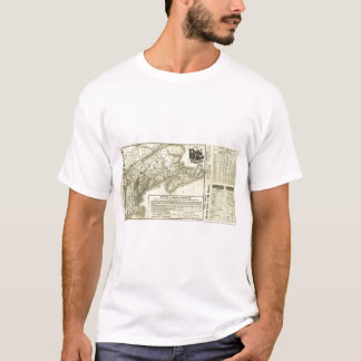 T-shirt Carte Boston et chemin de fer 2 du Maine