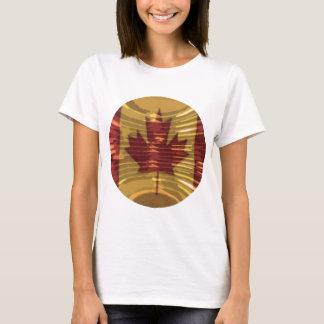 T-shirt Carte canadienne artistique et MapleLeaf