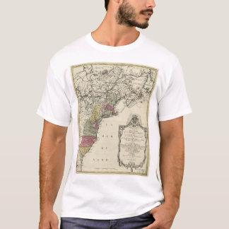 T-shirt Carte coloniale de l'Amérique par Matthaus Lotter