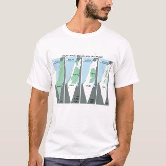 T-shirt Carte craintive de la Palestine