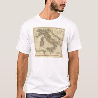 T-shirt Carte d'atlas de l'Italie