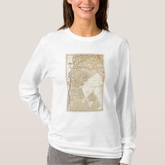T-shirt Carte d'atlas de Mt Vernon